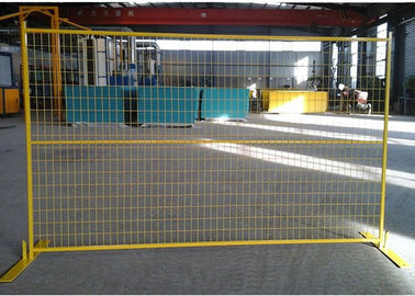 China Yellow Canada Temporary Fencing , Welded Steel Wire Mesh For Exhibitions supplier