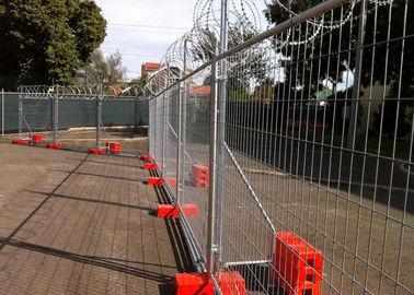 China Construction Site Temporary Cyclone Fencing With Q195 Iron Wire Materials supplier