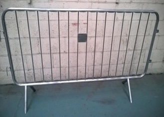 China Removable Galvanized Crowd Control Barriers Frame Pipe 40MM OD For USA supplier