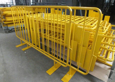 China Retractable Steel Barricades Crowd Control / Metal Pedestrian Barriers For Road Safe supplier
