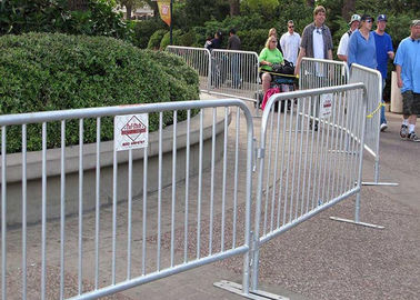 China Road Crowd Control Barricades Pedestrian Control Barriers For Construction Site supplier