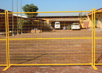 Road Security Welded Wire Mesh Temporary Fence Panels 60X100mm 12FT Width