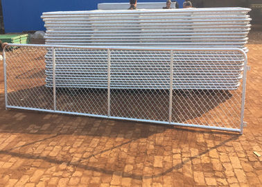 China Durable Practical Chain Link Fence Sliding Gate / Adjustable Chain Link Gate supplier