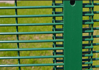 China Green 358 Security Mesh Fencing 80 X 80 MM Post 2.1 X 2.5 Meter For Road Security supplier