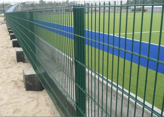 China Public Grounds Steel Mesh Fencing / Security Fence Panels Anti - Oxidation supplier