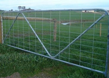 China Horse Cattle Fence Gate Low Carbon Steel Material Powder Coated Surface Treatments supplier