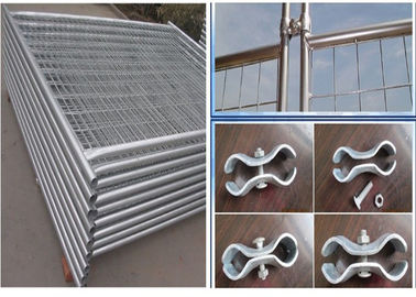 China Temporary Security Fence Panels / Building Site Safety Fencing With Plastic Foot supplier