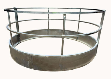 China Round Bale Hay Feeder withloop Top for Livestock Farm 1.5X2Meter With Diameter 1350MM supplier