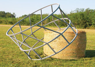 China Cattle Hay Bale Feeder With Size  1X2meter Galvanized or PVC coated 8 Feed Place on it supplier