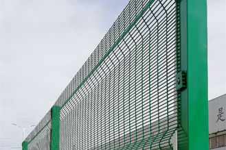 China Green 358 Security Mesh , Prison Weld Mesh Security Fencing 1.8m-3.0m Height supplier