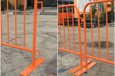China Steel Construction Crowd Control Fencing Panel , Crowd Safety Barriers supplier
