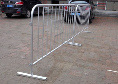 China Hot Dipped Galvanized Crowd Control Barriers 25MM Pipe 1.1x2.0 Meter supplier