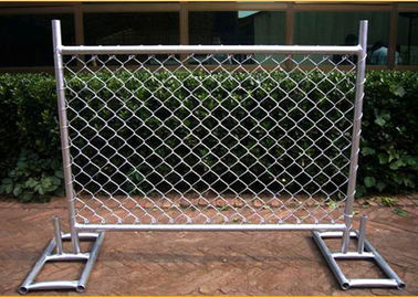 China Cross Brace Chain Link Builders Security Fencing Hot Galvanized Surface supplier
