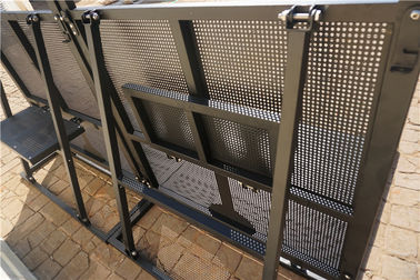 China Foldable Event Barricade Rental Steel Barricades Crowd Control Electrostatic Coating supplier