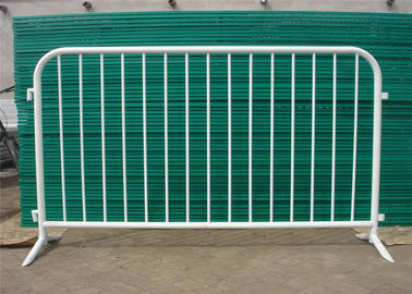 China Road block glavnized crowd control barricades for envent 1.1*2.1m size supplier