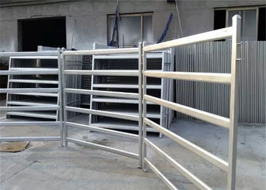 China Portable cattle yard panels 6 rails oval tube galvanized or powder coated supplier