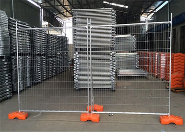 China Galvanized Temporary Construction Fence , Temporary Site Security Fencing 1100mm Height supplier