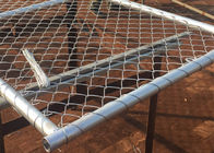China Hot Galvanized Chain Link Fence Gate / Wire Farm Gates Anti - Corrosion High Strength company