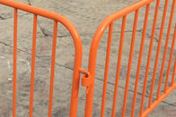China PVC Coating Orange Color Construction Safety Barriers Security Movable Road Barriers factory