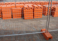 China Steel Temporary Fencing 2.4x2.1 Meter With Concrete Filled Plastic Feet company