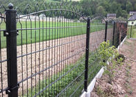 656 / 868 Double Wire Mesh Fence , Wire Fence Gate Round Post 50MM