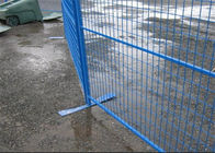 Security removable construction Canada temporary fencing galvanized or pvc coated