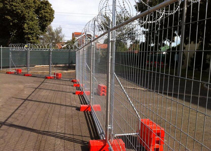 Hot Dipped Galvanised Temporary Site Security Fencing , Welded Wire ...
