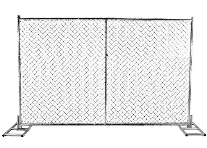 Chain Link Panels Australian Temporary Fencing With 38mm Round Pipe ...