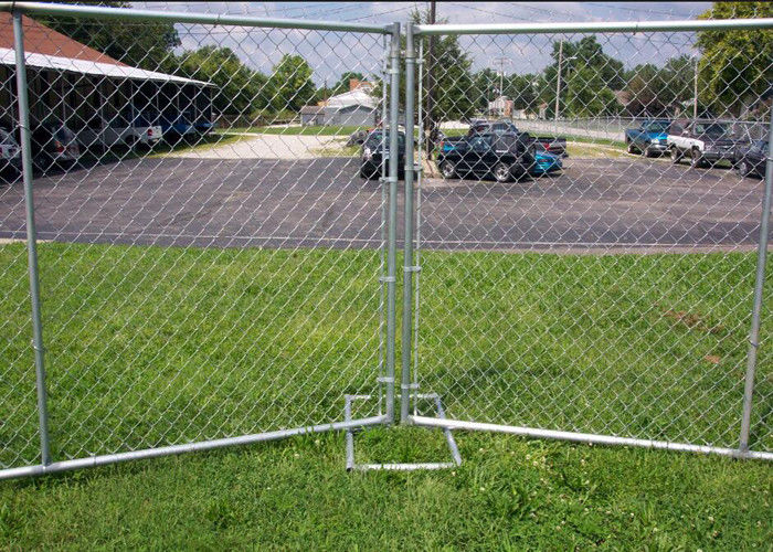 Galvanized Portable Australian Temporary Fencing , Chain Link Fence