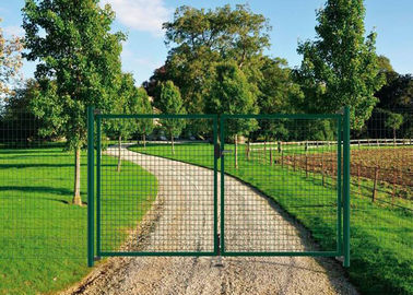 PVC Coated Welded Wire Fence Galvanised Square Mesh Fencing Green Color