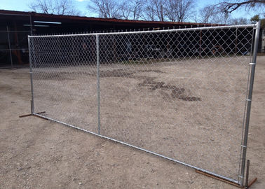 Temporary Chain Link Fence  Barrier Panel 60X60mm For Constructions Site
