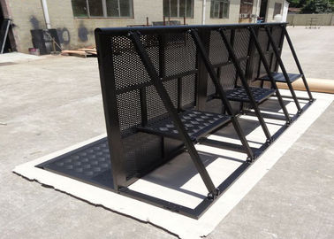 China Concert Crowd Control Barriers Black Surface With 40x50x2mm Square Tube factory