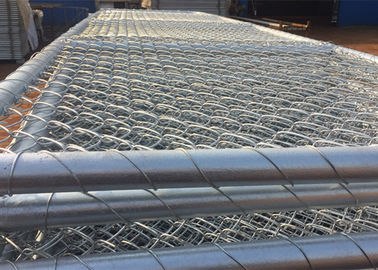 China Customizable Chain Link Fence Gate 75mm X 75mm Wire Mesh For Sheep Yard factory