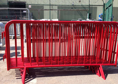China Crowd Control Metal Pedestrian Barriers Electrostatic Coating For Concert factory