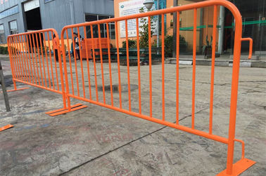 China Orange Portable Crowd Control Barriers Security Temporary Road Barriers factory
