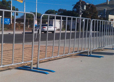 China Mobile Pedestrian Portable Crowd Safety Barriers	 1.2*2.1m Color Fence factory