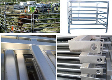 China 1.8*2.1m galvanized cattle yard sheep corral panels for livestock farm fence factory