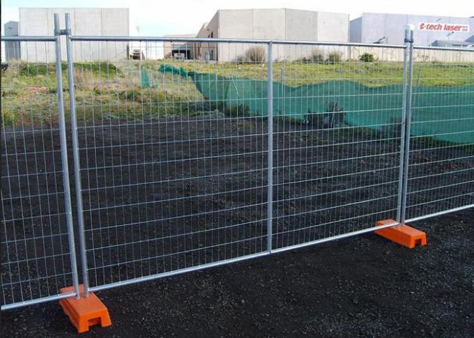Temporary Security Fence Panels / Building Site Safety Fencing With Plastic Foot