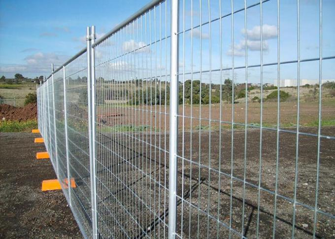 Removable Building Site Security Fencing Panels 1.8X2.1 Meter Comfortable Touch