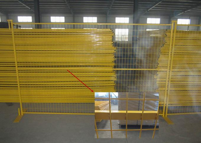 Residential Safety Temporary Construction Fence Panels Excellent Rust Resistance