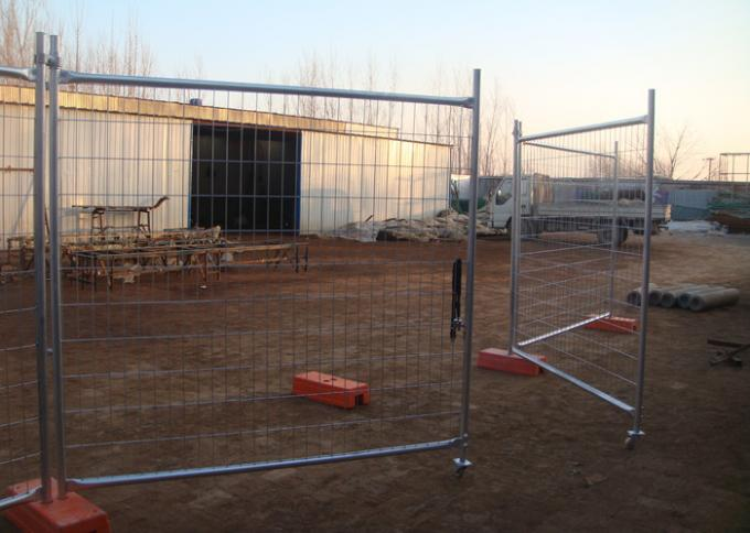 Outdoor Building Site Security Fencing Panels , Lightweight Temporary Fencing