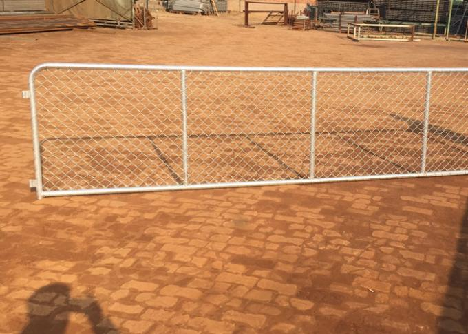 Customizable Chain Link Fence Gate 75mm X 75mm Wire Mesh For Sheep Yard