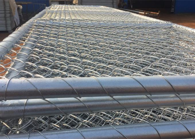 Hot Galvanized Chain Link Fence Gate / Wire Farm Gates Anti - Corrosion High Strength