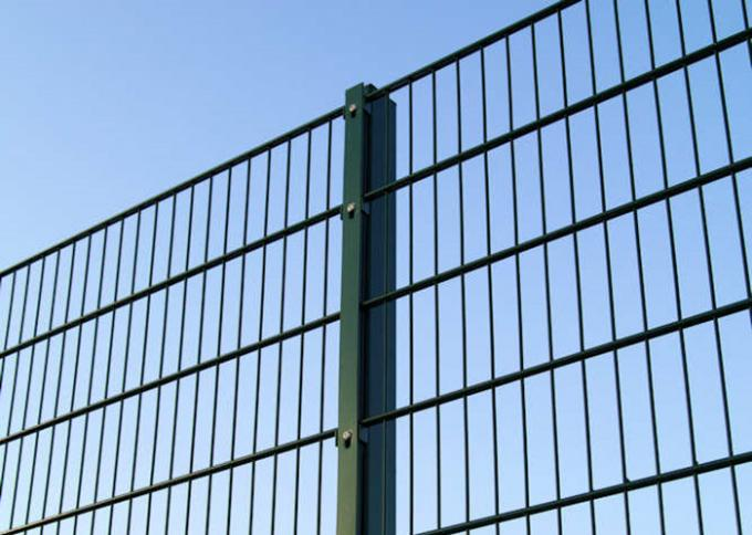 PVC Coated 868 Double Wire Mesh Fence Bright Color With Easy Maintain