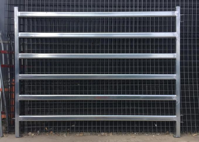 Hot Dipped Galvanized Oval Tube Cow Fence Panel 40X80MM Pipe With 6 Rail In the Middle
