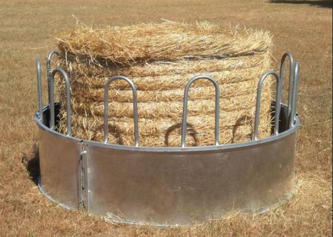 Cattle Hay Bale Feeder With Size  1X2meter Galvanized or PVC coated 8 Feed Place on it