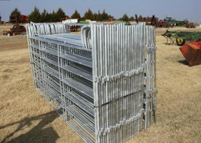 Hot Dipped Galvanzied Corral Fence Panel 42MM Round Pipe With Size 6X12FT For USA Market