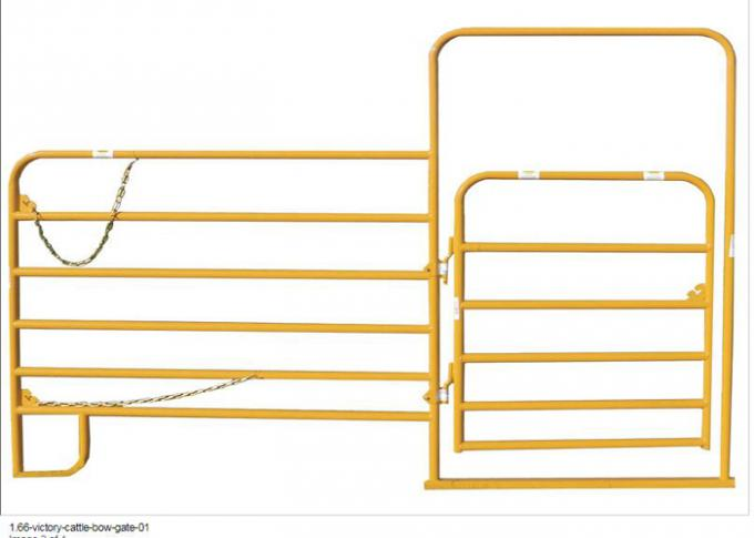 Pvc Coated Round Tube 42mm Livestock Farm Fence Panel 5ft X10FT Used In USA Market