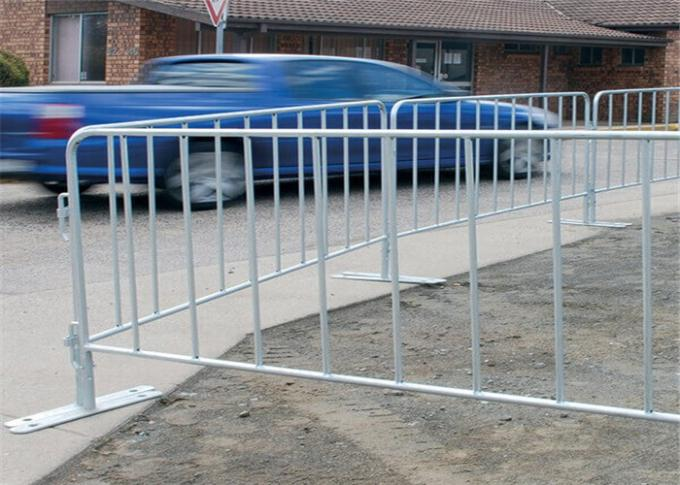 Traffic road steel crowd safety barriers for security customized size
