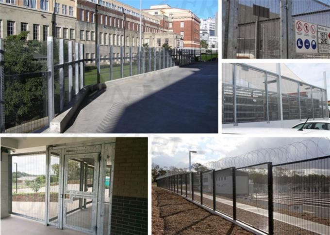 Precision prison galvanized weld mesh security fencing 358 mesh fencing